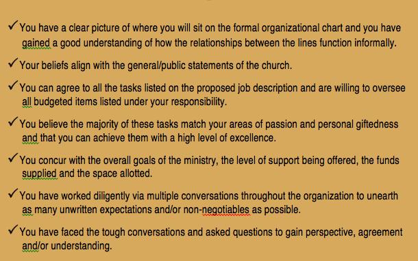 Job Checklist